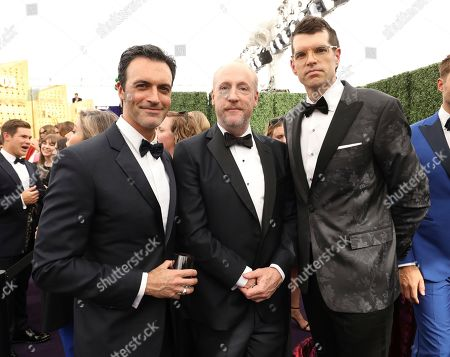 Reid Scott, Matt Walsh, Timothy Simons. Reid Scott, Matt Walsh and Timothy Simons arrive at the 71st Primetime Emmy Awards, at the Microsoft Theater in Los Angeles