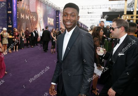 Niles Fitch arrives at the 71st Primetime Emmy Awards, at the Microsoft Theater in Los Angeles