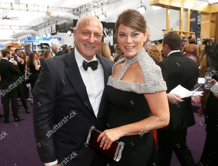 Tom Colicchio, Gail Simmon. Tom Colicchio, left, and Gail Simmon arrive at the 71st Primetime Emmy Awards, at the Microsoft Theater in Los Angeles