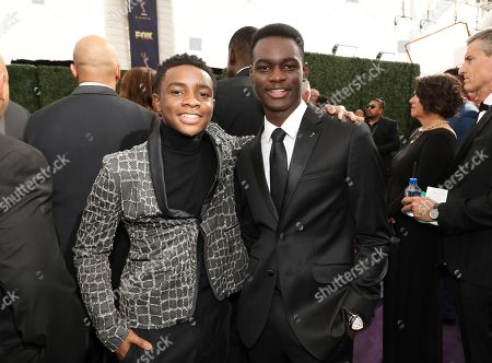 Caleel Harris, Ethan Herisse. Caleel Harris, left, and Ethan Herisse arrive at the 71st Primetime Emmy Awards, at the Microsoft Theater in Los Angeles