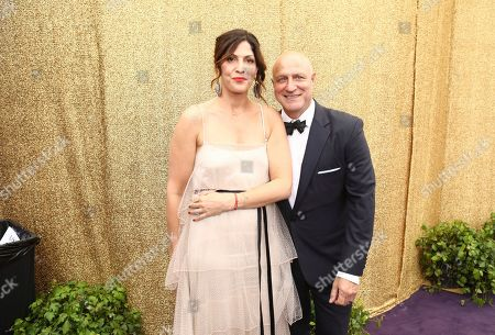 Stock Photo of Lori Silverbush, Tom Colicchio. Lori Silverbush, left, and Tom Colicchio at the 71st Primetime Emmy Awards, at the Microsoft Theater in Los Angeles
