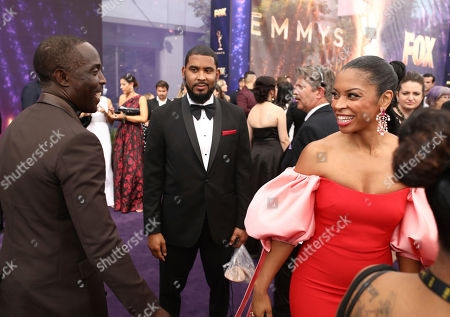 Michael K. Williams, Susan Kelechi Watson. Michael K. Williams, left, and Susan Kelechi Watson at the 71st Primetime Emmy Awards, at the Microsoft Theater in Los Angeles