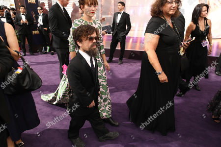 Peter Dinklage, Erica Schmidt. Peter Dinklage, left, and Erica Schmidt at the 71st Primetime Emmy Awards, at the Microsoft Theater in Los Angeles