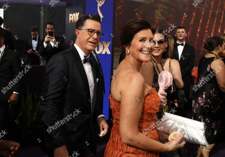 Stephen Colbert, Evelyn Mcgee-Colbert. Stephen Colbert, left, and Evelyn Mcgee-Colbert at the 71st Primetime Emmy Awards, at the Microsoft Theater in Los Angeles