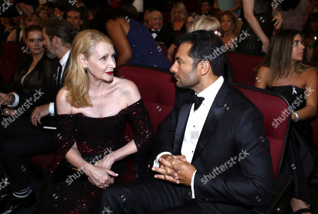 Patricia Clarkson, Darwin Shaw. Patricia Clarkson, left, and Darwin Shaw speak in the audience at the 71st Primetime Emmy Awards, at the Microsoft Theater in Los Angeles