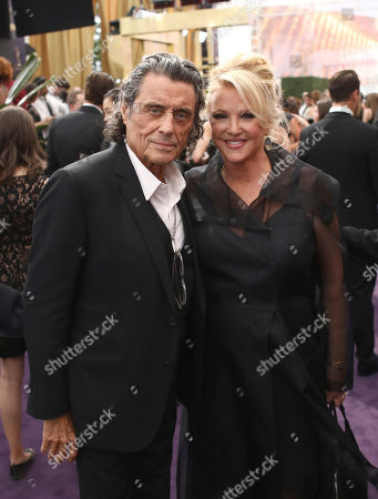 Ian McShane, Gwen Humble. Ian McShane, left, and Gwen Humble at the 71st Primetime Emmy Awards, at the Microsoft Theater in Los Angeles