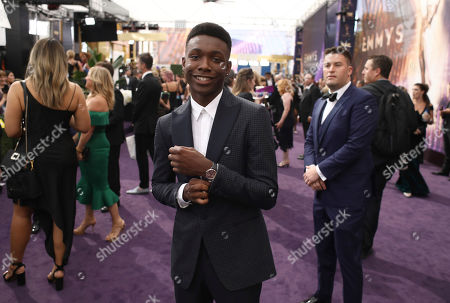 Niles Fitch at the 71st Primetime Emmy Awards, at the Microsoft Theater in Los Angeles