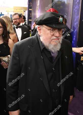 George R. R. Martin at the 71st Primetime Emmy Awards, at the Microsoft Theater in Los Angeles