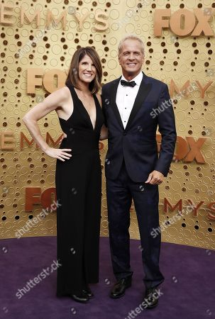 Mandy Fabian (L) and Patrick Fabian arrive for the 71st annual Primetime Emmy Awards ceremony held at the Microsoft Theater in Los Angeles, California, USA, 22 September 2019. The Primetime Emmys celebrate excellence in national primetime television broadcasting.