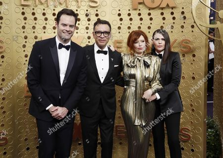 Bill Hader, Fred Armisen, Natasha Lyonne and Clea DuVall arrives for the 71st annual Primetime Emmy Awards ceremony held at the Microsoft Theater in Los Angeles, California, USA, 22 September 2019. The Primetime Emmys celebrate excellence in national primetime television broadcasting.