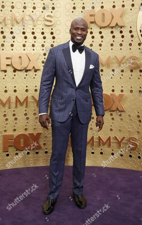Akbar Gbajabiamila arrives for the 71st annual Primetime Emmy Awards ceremony held at the Microsoft Theater in Los Angeles, California, USA, 22 September 2019. The Primetime Emmys celebrate excellence in national primetime television broadcasting.