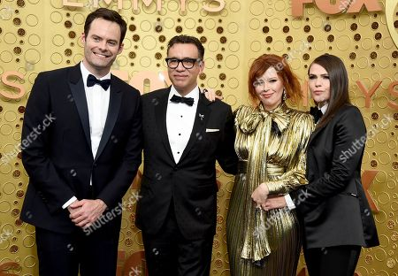 Bill Hader, Fred Armisen, Natasha Lyonne, Clea DuVall. Bill Hader, from left, Fred Armisen, Natasha Lyonne, and Clea DuVall arrive at the 71st Primetime Emmy Awards, at the Microsoft Theater in Los Angeles