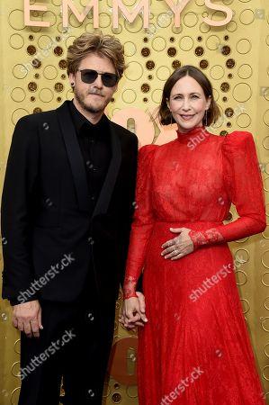 Renn Hawkey, Vera Farmiga. Renn Hawkey, left, and Vera Farmiga arrive at the 71st Primetime Emmy Awards, at the Microsoft Theater in Los Angeles