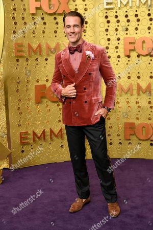 James Van Der Beek arrives at the 71st Primetime Emmy Awards, at the Microsoft Theater in Los Angeles