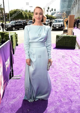 Sarah Goldberg arrives at the 71st Primetime Emmy Awards, at the Microsoft Theater in Los Angeles