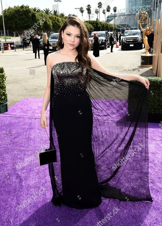 Hannah Zeile arrives at the 71st Primetime Emmy Awards, at the Microsoft Theater in Los Angeles