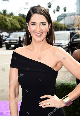 D'Arcy Carden arrives at the 71st Primetime Emmy Awards, at the Microsoft Theater in Los Angeles