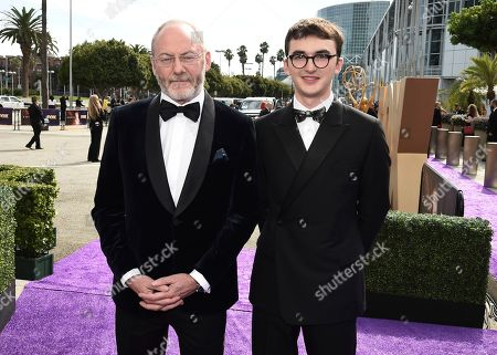 Liam Cunningham, Isaac Hempstead Wright. Liam Cunningham, left, and Isaac Hempstead Wright arrive at the 71st Primetime Emmy Awards, at the Microsoft Theater in Los Angeles