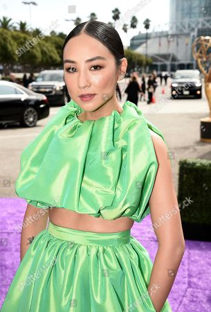 Greta Lee arrives at the 71st Primetime Emmy Awards, at the Microsoft Theater in Los Angeles