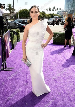 Emanuela Postacchini arrives at the 71st Primetime Emmy Awards, at the Microsoft Theater in Los Angeles