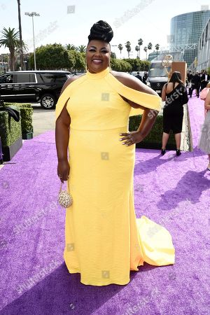 Nicole Byer arrives at the 71st Primetime Emmy Awards, at the Microsoft Theater in Los Angeles