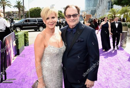 Romy Rosemont, Stephen Root. Romy Rosemont, left, and Stephen Root arrive at the 71st Primetime Emmy Awards, at the Microsoft Theater in Los Angeles