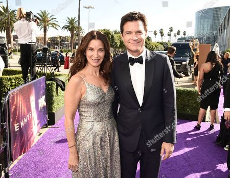 Amanda Anka, Jason Bateman. Amanda Anka, left, and Jason Bateman arrive at the 71st Primetime Emmy Awards, at the Microsoft Theater in Los Angeles