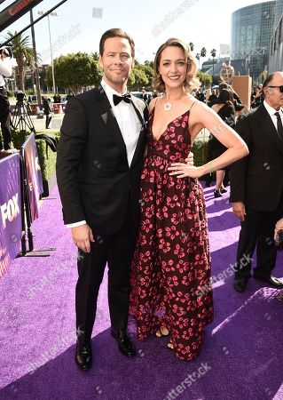 Ike Barinholtz, Erica Hanson. Ike Barinholtz, left, and Erica Hanson arrives at the 71st Primetime Emmy Awards, at the Microsoft Theater in Los Angeles