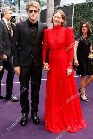 Renn Hawkey, Vera Farmiga. Renn Hawkey and Vera Farmiga arrive at the 71st Primetime Emmy Awards, at the Microsoft Theater in Los Angeles