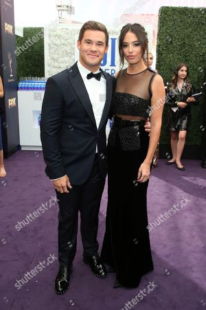 Adam Devine, Chloe Bridges. Adam Devine and Chloe Bridges arrive at the 71st Primetime Emmy Awards, at the Microsoft Theater in Los Angeles