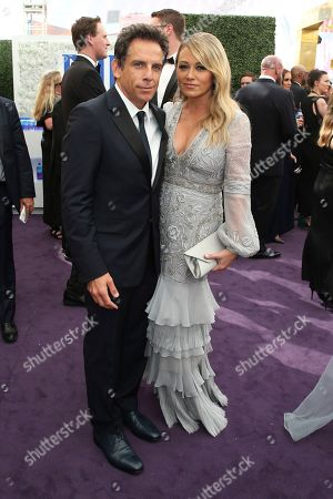 Ben Stiller, Christine Taylor. Ben Stiller and Christine Taylor arrives at the 71st Primetime Emmy Awards, at the Microsoft Theater in Los Angeles
