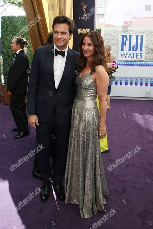 Jason Bateman, Amanda Anka. Jason Bateman and Amanda Anka arrives at the 71st Primetime Emmy Awards, at the Microsoft Theater in Los Angeles