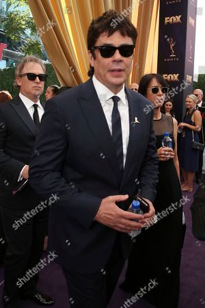 Stock Image of Benicio Del Toro arrives at the 71st Primetime Emmy Awards, at the Microsoft Theater in Los Angeles