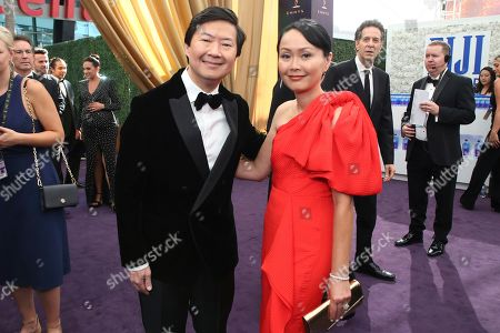 Ken Jeong, Tran Jeong. Ken Jeong and Tran Jeong arrives at the 71st Primetime Emmy Awards, at the Microsoft Theater in Los Angeles
