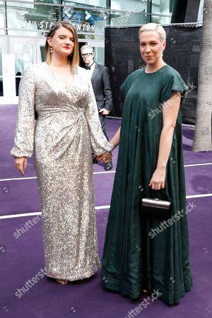 Leslye Headland, Rebecca Henderson. Leslye Headland and Rebecca Henderson arrives at the 71st Primetime Emmy Awards, at the Microsoft Theater in Los Angeles