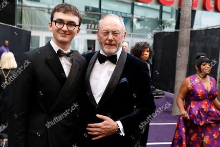 Isaac Hempstead, Liam Cunningham. Isaac Hempstead and Liam Cunningham arrives at the 71st Primetime Emmy Awards, at the Microsoft Theater in Los Angeles