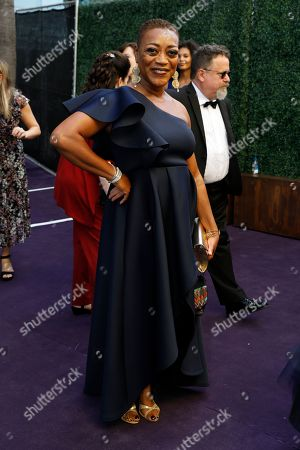 Pounder arrives at the 71st Primetime Emmy Awards, at the Microsoft Theater in Los Angeles