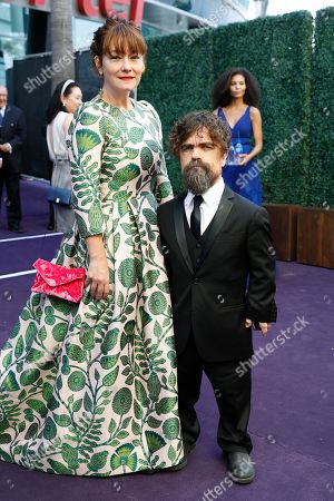 Erica Schmidt, Peter Dinklage. Erica Schmidt and Peter Dinklage arrives at the 71st Primetime Emmy Awards, at the Microsoft Theater in Los Angeles