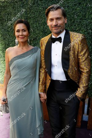 Nukaaka Coster-Waldau, Nikolaj Coster-Waldau. Nukaaka Coster-Waldau and Nikolaj Coster-Waldau arrives at the 71st Primetime Emmy Awards, at the Microsoft Theater in Los Angeles