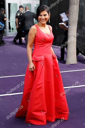 Nilou Motamed arrives at the 71st Primetime Emmy Awards, at the Microsoft Theater in Los Angeles