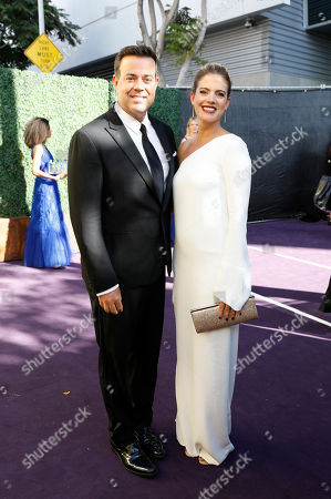 Stock Picture of Carson Daly, Siri Pinter. Carson Daly, left, and Siri Pinter arrive at the 71st Primetime Emmy Awards, at the Microsoft Theater in Los Angeles
