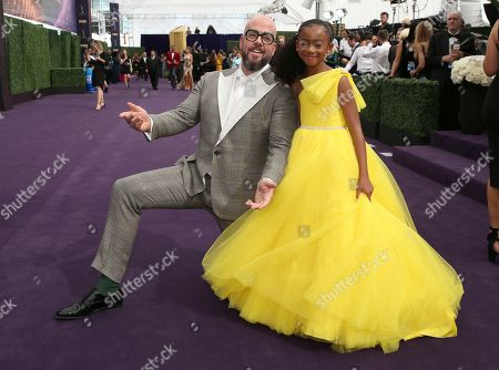 Chris Sullivan, Faithe Herman. Chris Sullivan, left, and Faithe Herman arrive at the 71st Primetime Emmy Awards, at the Microsoft Theater in Los Angeles