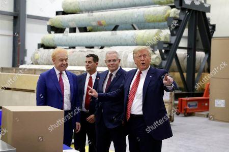 Donald Trump Scott Morrison. President Donald Trump speaks as Australian Prime Minister Scott Morrison, second from right, and Pratt Industries chairman Anthony Pratt, left, listen during a tour of Pratt Industries, in Wapakoneta, Ohio