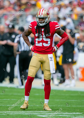 San Francisco 49ers cornerback Richard Sherman (25) in action during the NFL football game between the Pittsburg Steelers and the San Francisco 49ers at Levi's Stadium in Santa Clara, CA. The 49ers defeated the Steelers 24-20
