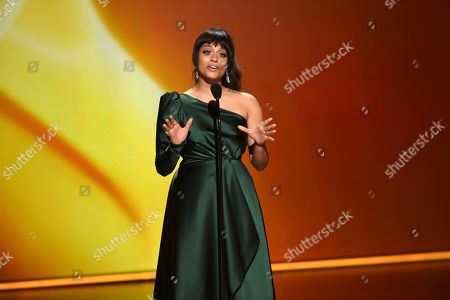 Lilly Singh speaks onstage at the 71st Primetime Emmy Awards, at the Microsoft Theater in Los Angeles