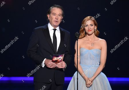 Timothy Hutton, Brittany Snow. Timothy Hutton, left, and Brittany Snow present the award for outstanding directing for a drama series at the 71st Primetime Emmy Awards, at the Microsoft Theater in Los Angeles