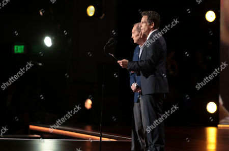 Stock Picture of Jerry Stiller, Ben Stiller. Jerry Stiller, left, and Ben Stiller at the 71st Primetime Emmy Awards, at the Microsoft Theater in Los Angeles