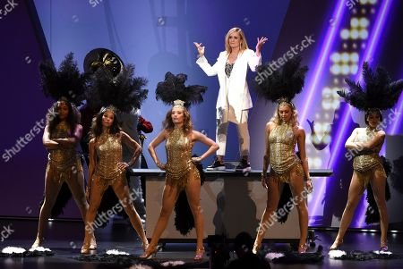 Samantha Bee performs on stage at the 71st Primetime Emmy Awards, at the Microsoft Theater in Los Angeles