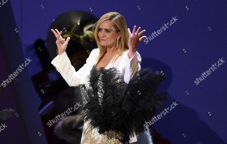 Stock Picture of Samantha Bee is seen on stage at the 71st Primetime Emmy Awards, at the Microsoft Theater in Los Angeles