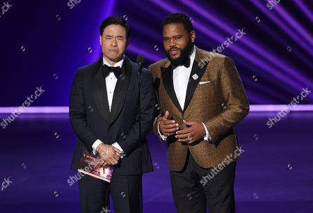 Randall Park, Anthony Anderson. Randall Park, left, and Anthony Anderson present the award for outstanding variety sketch series at the 71st Primetime Emmy Awards, at the Microsoft Theater in Los Angeles